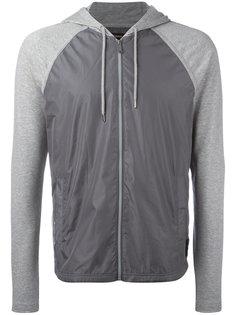contrast-panel hooded sweatshirt Michael Kors