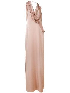 straps applique dress  Halston Heritage