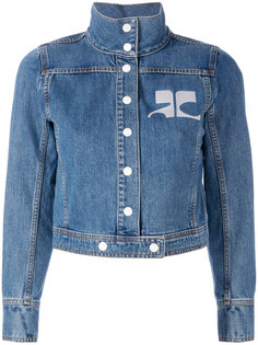 джинсовая куртка с вышитым логотипом Courrèges