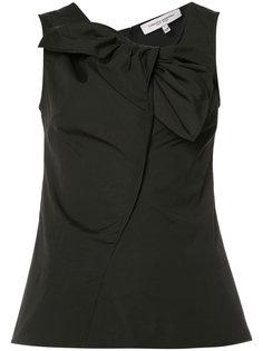 sleeveless bow neck blouse Carolina Herrera
