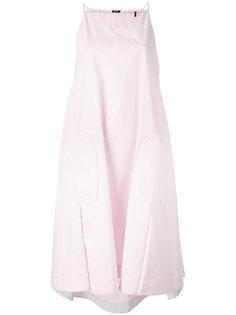 расклешенное платье с карманами по бокам Jil Sander Navy