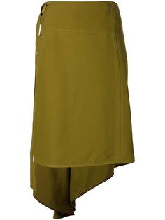 асимметричная юбка с запахом Marni