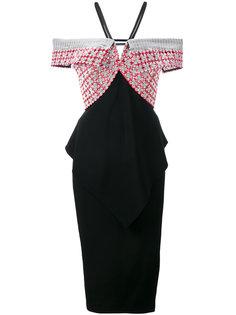 приталенное платье с открытыми плечами Roland Mouret