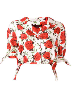 cropped rose print blouse Alexander Wang