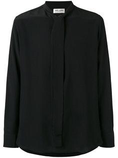 рубашка с завязкой на горловине Saint Laurent