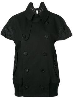 двубортная куртка с короткими рукавами Sacai