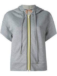 zipped short sleeved hoodie Nº21