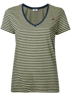 футболка с полоску с v-образным вырезом Sonia By Sonia Rykiel