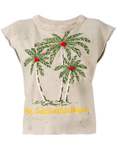 palm tree embroidered top  As65