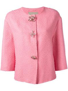 твидовый пиджак с декоративными пуговицами Ermanno Scervino