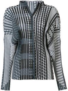 плиссированная блузка с геометрическим принтом Issey Miyake