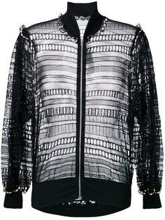 плетеная куртка-бомбер Alexander McQueen