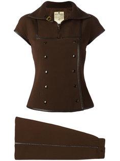 юбочный костюм с окантовкой Courrèges Vintage