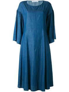 chambray bell sleeve dress Stefano Mortari