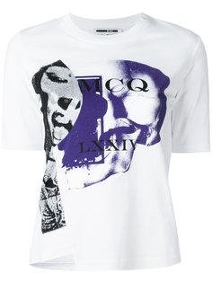 асимметричная футболка с принтом McQ Alexander McQueen