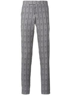 брюки с принтом якорей  Thom Browne
