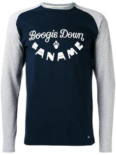 футболка с контрастными длинными рукавами и логотипом Bleu De Paname