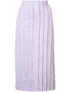 frayed pleat skirt  Jonathan Cohen