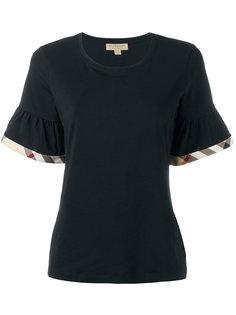 футболка с рюшами в клетку Burberry