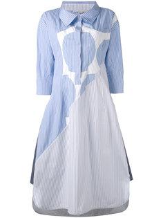 длинное платье-рубашка  в тонкую полоску  Stella McCartney