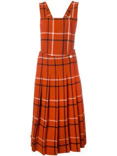 трикотажный сарафан в шотландскую клетку Comme Des Garçons Vintage