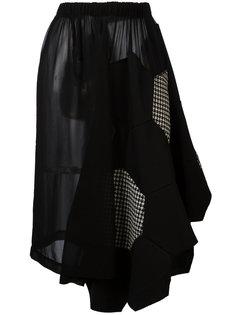 юбка с аппликацией в виде сот Comme Des Garçons Vintage