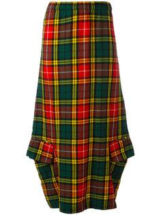 юбка-макси в шотландскую клетку Comme Des Garçons Vintage