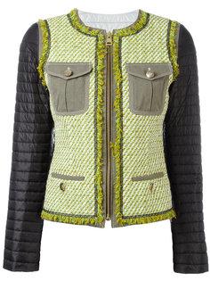 твидовый пиджак со стегаными рукавами Fay