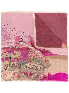 шарф с пейзажем с пальмами Valentino
