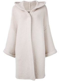 ribbed detail cardi-coat  N.Peal