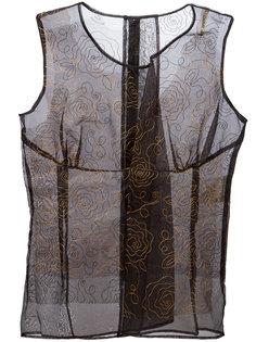 топ с цветочной вышивкой Comme Des Garçons Vintage
