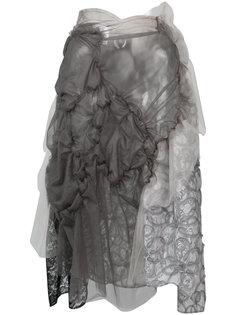 многослойная асимметричная юбка Comme Des Garçons Tricot