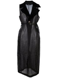 прозрачное длинное платье Comme Des Garçons Vintage