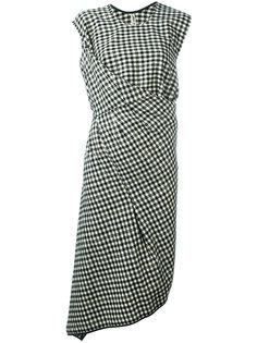 драпированное платье в клетку Comme Des Garçons Vintage