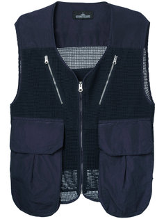cargo pocket mesh waistcoat Stone Island Shadow Project