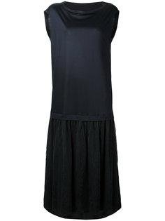 платье миди с вырезом лодочкой  Ys Y`s