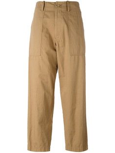 straight cropped trousers Ys Y`s