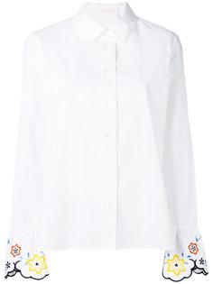 рубашка с вышивкой на манжетах See By Chloé