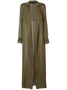 sheer trench jacket Sally Lapointe