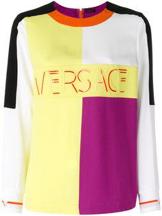 топ со вставками колор-блок Versace