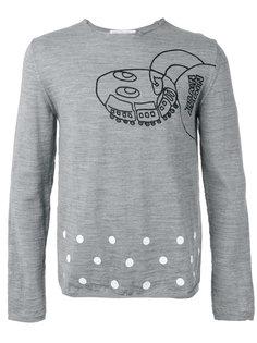 свитер с принтом робота Comme Des Garçons Shirt