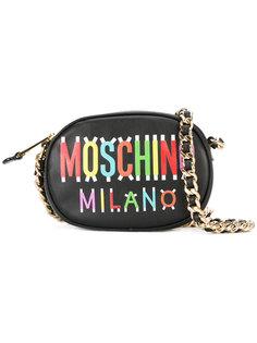 овальная сумка через плечо Milano Moschino