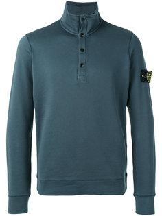 button collar sweatshirt Stone Island