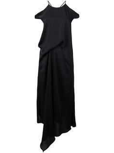 cutout shoulder draped dress Christian Wijnants
