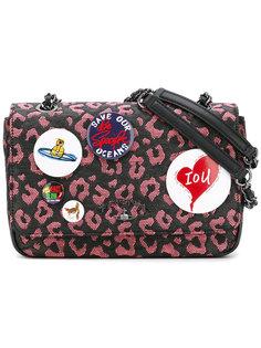 сумка с нашивками и леопардовым принтом Vivienne Westwood Anglomania