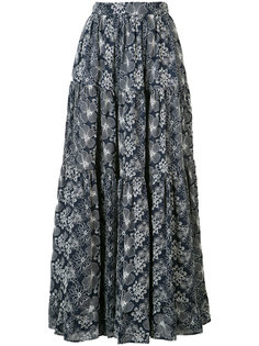 long floral skirt Co
