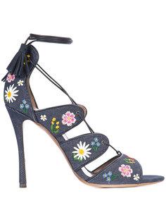 босоножки с цветочной вышивкой Honor Tabitha Simmons