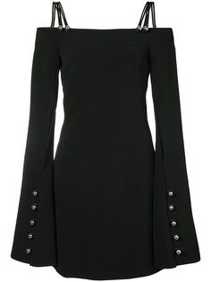 платье с металлическим декором David Koma