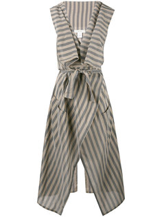 striped sleeveless duster Lucio Vanotti