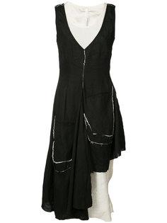 асимметричное платье с необработанными краями Barbara I Gongini